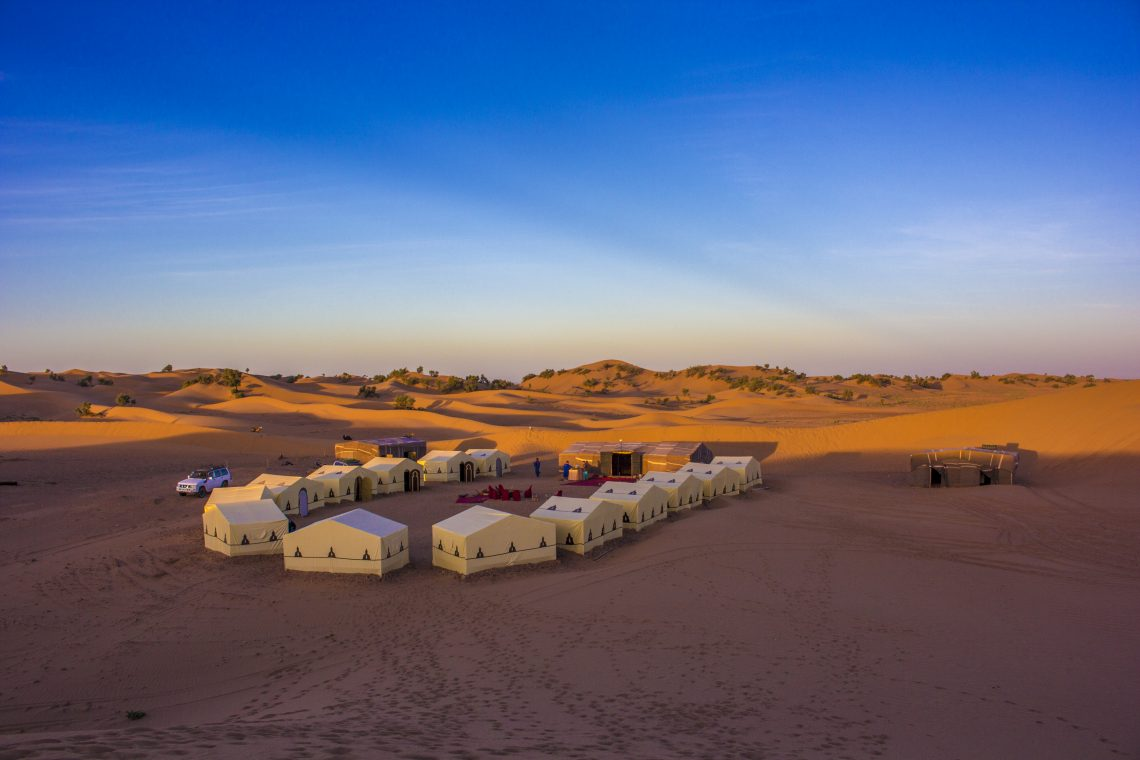 Campsite in the Sahara