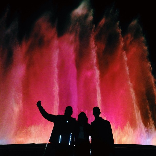 Barcelona magic fountains study abroad exchange