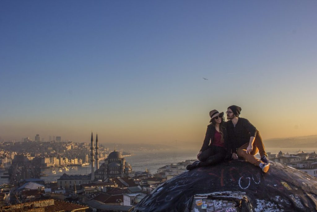 Sunrise Over Istanbul Turkey Secret Rooftop Instagram