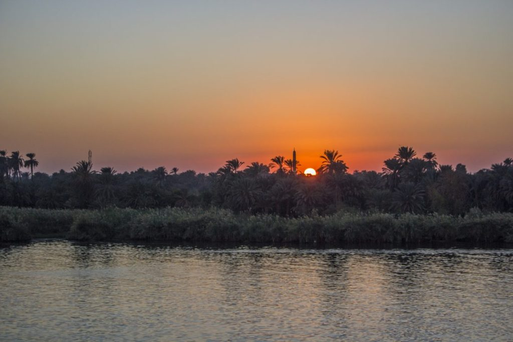 Sunset over the Nile Egypt Travel Talk Tours Solo Femele Travel