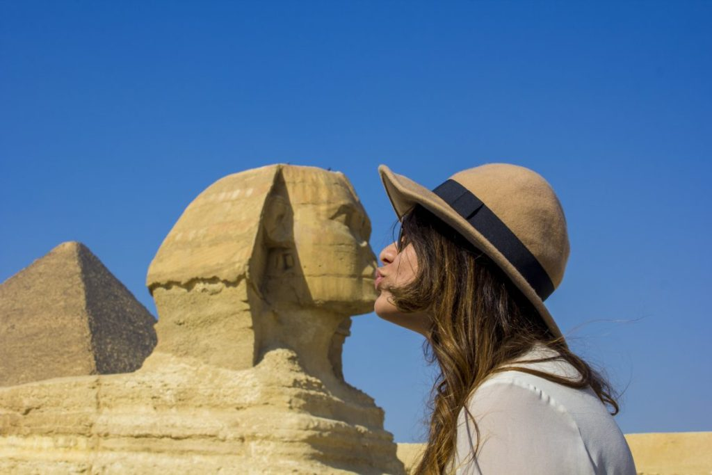 kissing sphinx - Travel Talk Tours Solo female travel egypt