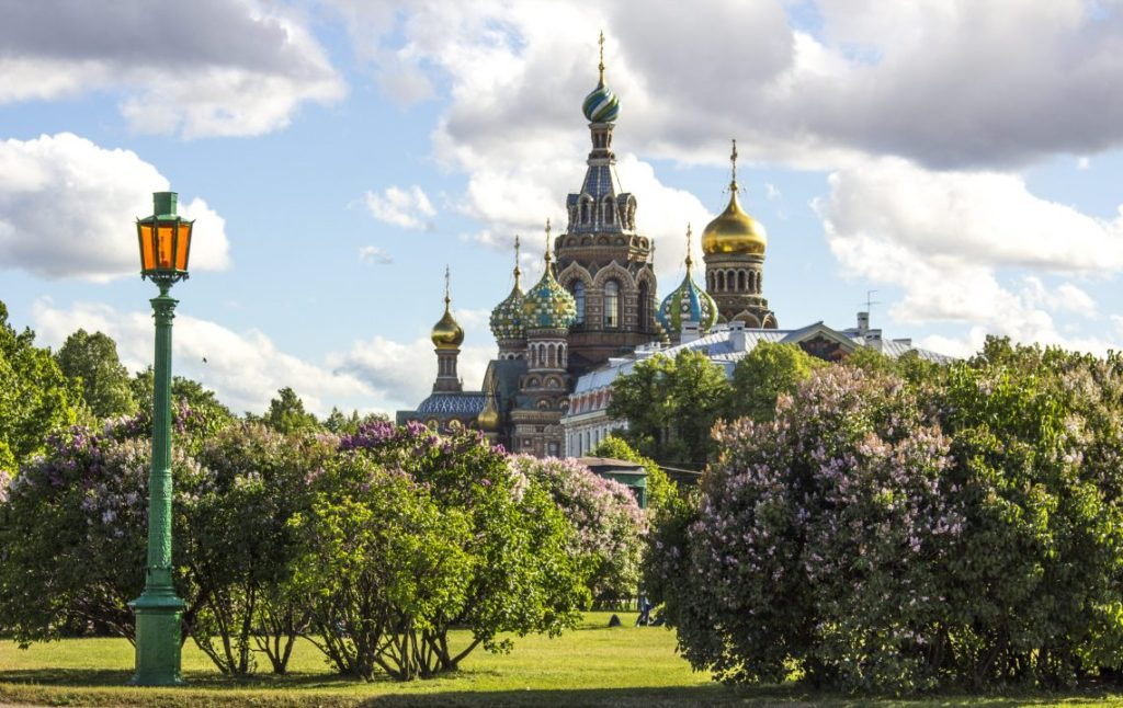 Chruch of our Saviour from park, St Petersburg, Russia, Solo Female Travel Blog Wanderlust Photography