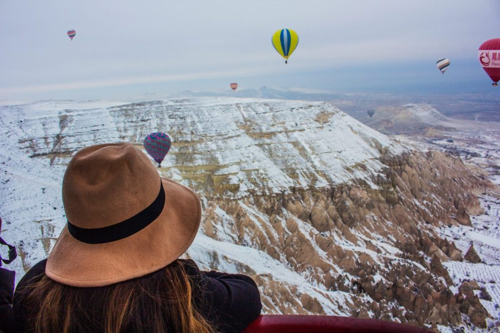 Turkey Cappadocia Hot Air Balloon Winter Solo Female Travel Travel Talk Tours Itinerary Guide